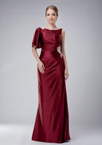 Kansas Burgundy Homecoming Cocktail Dress in Bateau Beck Taffeta