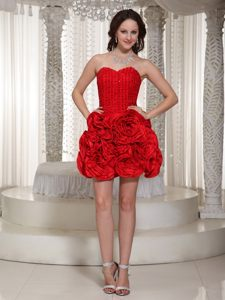 Red Sweetheart Homecoming Cocktail Dress with Pick-ups Massachusetts