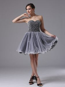 Beaded Sweetheart Black Prom Cocktail Dress in Tulle South Carolina