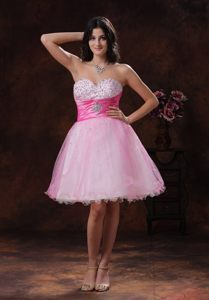 Pink Beaded Multi-color Sweetheart Cocktail Party Dress Tennessee