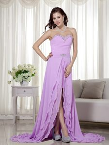 Lavender Sweetheart High-low Prom Cocktail Dress in Chiffon Idaho
