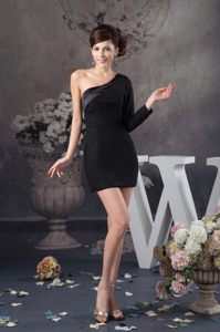 Black Short Long Sleeve Evening Cocktail Dress in Baton Rouge USA