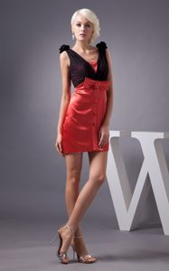 Black and Red Bowknot Cocktail Dress For Celeb in Tallahassee USA