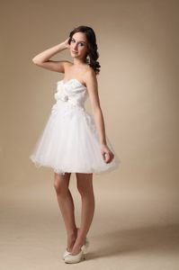 White Sweetheart Mini-length Homecoming Cocktail Dress in Dover USA