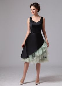 Black Straps Knee-length Evening Cocktail Dress in Little rock USA