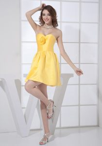 Yellow Sweetheart Mini-length Dresses For Cocktail Party in Arvada