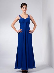 Blue Straps Ankle-length Homecoming Cocktail Dress in Concord 2013