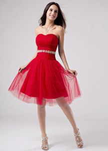 Strapless A-Line Knee-length Beading Evening Cocktail Dress in WA