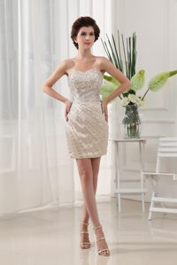 Sexy Ruched Rhinestone Sweetheart Mini-length Cocktail Dress in NC