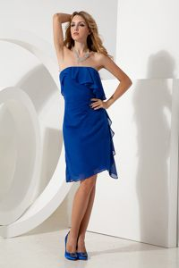 Royal Blue Ruched Chiffon Homecoming Cocktail Dress in Melbourne FL