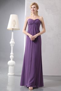Purple Chiffon Ruched Cheap Evening Cocktail Dress in Redwood City CA