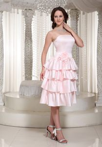 Wholesale Ruffles Layered Tea-length Cocktail Dress for Celebrity in George
