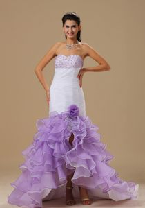 Mermaid Ruffles for White and Purple Cocktail Reception Dresses in Klerksdorp