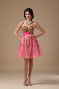 Multi-color Sweetheart Mini-length Beaded Cocktail Dress for Prom in Lidgetton