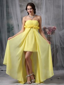 Lovely Yellow Sheath High-low Homecoming Cocktail Dresses in Louis Trichardt