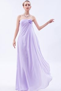 Lilac Empire Chiffon Flowers Accent Homecoming Cocktail Dresses in Rustenburg