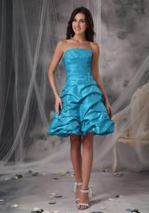 A-Line Beading Mini-length Aqua Blue Cocktail Party Dresses in Franschhoek