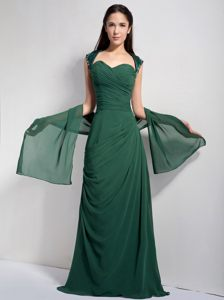 Sweetheart Column Full Length Dark Green Cocktail Party Dresses