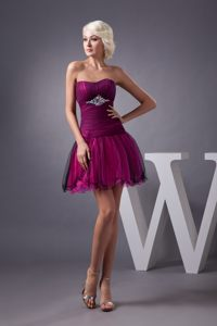 Beaded and Ruched 2013 Prom Cocktail Dresses in Black and Hot Pink