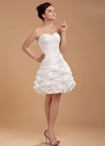 2013 Homecoming Cocktail Dresses with Sweetheart and Waving Ruffles