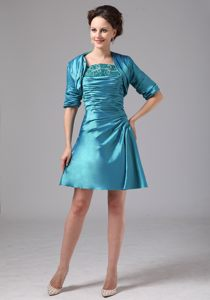 Matching Jacket for Teal Appliques Cocktails Dress In Milledgeville Georgia