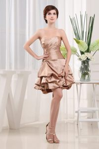 Mini-length Sweetheart Champagne Prom Cocktail Dresses for Cheap
