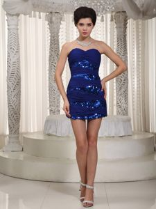Mini-length Royal Sweetheart Chiffon Cocktail Dresses Sequined