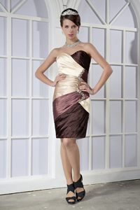 Sweetheart Colorful Mini-length Taffeta Cocktail Dresses Beaded