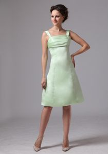 Apple Green Straps Knee-length North Dakota Dresses for Wedding Cocktail Party