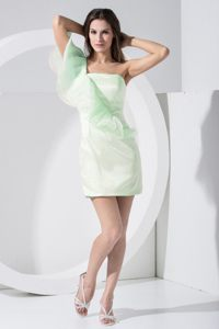 Asymmetrical One Shoulder Light Green Wisconsin Homecoming Cocktail Dresses