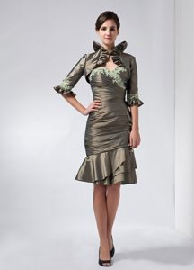 Sweetheart Olive Green Cocktail Dresses with Appliques and Ruffles in Utah