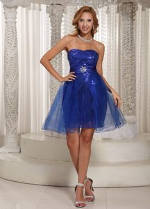 Sequined Fabric and Organza Strapless Cocktail Dresses for 2014 New Jersey