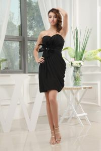Black Sweetheart Homecoming Cocktail Dress with a Feather Sash