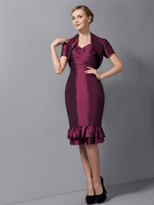 Burgundy Taffeta Homecoming Cocktail Dress with Ruches Kentucky