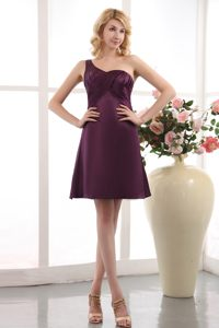 Purple Empire One Shoulder Homecoming Cocktail Dresses Under 100