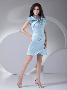 Appliqued Short Light Blue Homecoming Cocktail Dresses in Leipzig