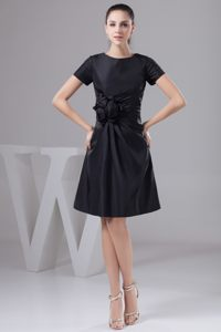 Black Short Sleeves Cocktail Reception Dresses Knee-length in Kaarst
