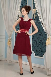 Burgundy Square Beaded Homecoming Cocktail Dresses in Hartbeespoortdam