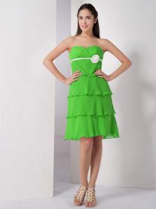 Spring Green Sweetheart Knee-length Homecoming Cocktail Dresses in Edenvale
