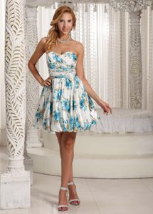 Luxurious Printing Colorful A-line Sweetheart Prom Cocktail Dress in Vredenburg