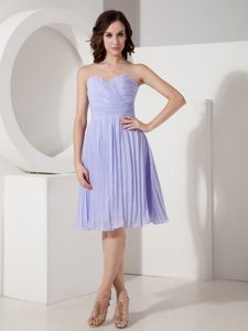 Chiffon Pleated Knee-length Lilac Sweetheart Cocktail Reception Dresses in Pretoria