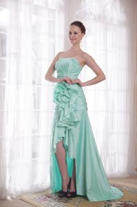 High-low Taffeta Flowers Apple Green Cocktail Dress in Ajax Ontario
