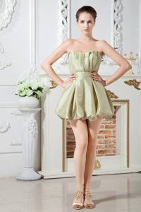Olive Green Ruched Taffeta Prom Cocktail Dress in Joondalup WA