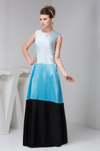 Bateau Sleeveless Multi-Colored Satin Cocktail Dress in Moncton