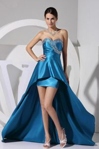 High-low Beaded Teal Taffeta Evening Cocktail Dress in Cairns QLD