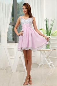 Beading Straps Rose Pink Chiffon Cocktail Dresses in Ajax Ontario