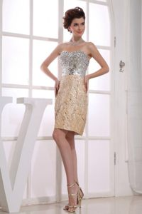 Paillette Taffeta Gold Sweetheart Wollongong NSW Cocktail Dress