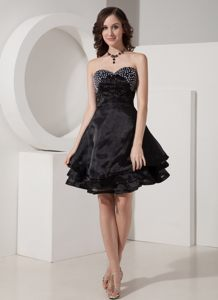 Beading Organza Black Corset Back Cocktail Dresses in Canberra