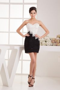 Summer Sweetheart Sequin White and Black Arles France Cocktail Dress