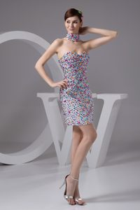 Multi-color Strapless Beading Zipper Up Back Cocktail Party Dresses
